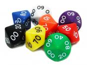 Dice d100 avilable in 5 colors