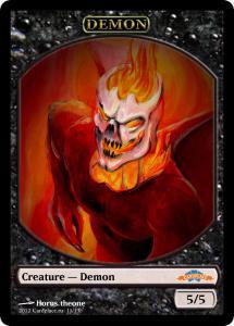 10 tokens «Demon» designed by Cardplace.RU 2014