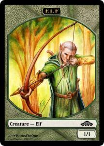 10 tokens «Elf» designed by Cardplace.RU 2014