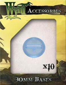 Malifaux Blue 30mm Translucent Bases