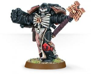 Finecast: Space Marine Chaplain with Crozius & Power Fist