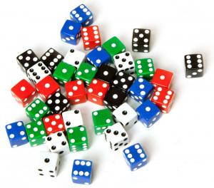 Dice d6 avilable in 5 colors