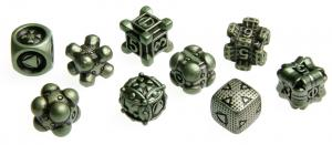 Irondie The Game - 9-Dice Basic Set - Unlimited green