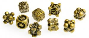 Irondie The Game - 9-Dice Basic Set - Unlimited yellow