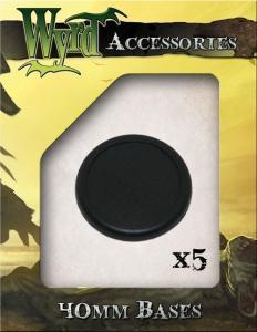 Malifaux: 40mm Black Plastic Bases
