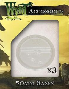 Malifaux Clear 50mm Translucent Bases