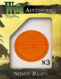Malifaux ORange 50mm Translucent Bases