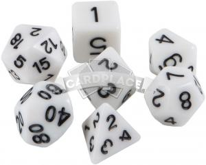 Znaem Igraem dices (7 pcs) white