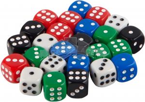 Dice set of 30 d6 avilable in 5 colors