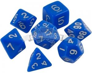 Znaem Igraem dices (7 pcs) blue
