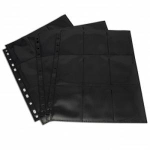 Blackfire 18-Pocket Pages - Black - Top Loading (50 pcs)