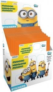 TOPPS minions stickers box russian