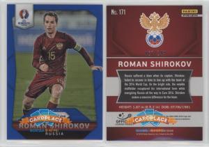 Panini Prizm UEFA Euro 2016 Blue Prizms - #171 Roman Shirokov