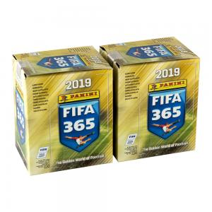 FIFA 365-2019 two stickers boxes