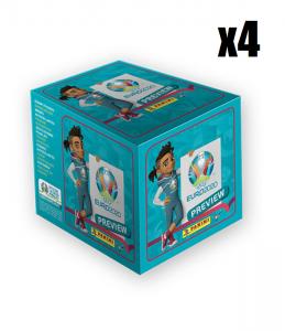 4x soccer cards panini UEFA EURO 2020 TM PREVIEW